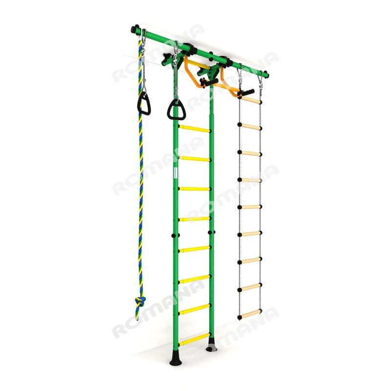 Детский спортивный комплекс Карусель 3 - зелено-желтый (Romana)
