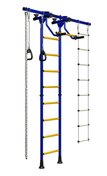 Детский спортивный комплекс Карусель 3 - сине-желтый (ROMANA)