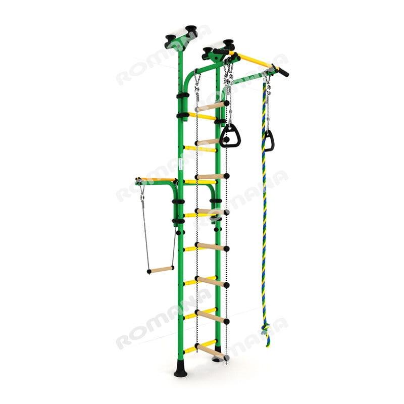 Детский спортивный комплекс Карусель Олимпиец-1 - зелено-желтый (Romana)