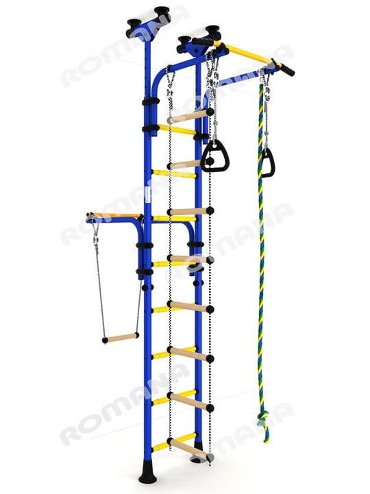 Детский спортивный комплекс Карусель Олимпиец-1 - сине-желтый (Romana)