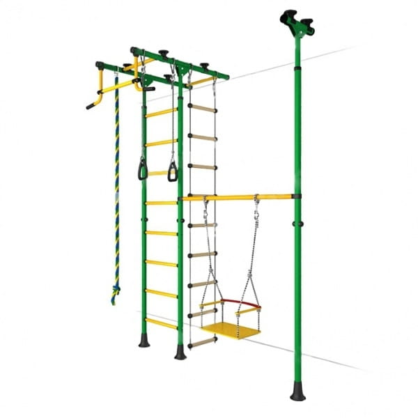 Детский спортивный комплекс Карусель 31 - зелено-желтый (ROMANA)