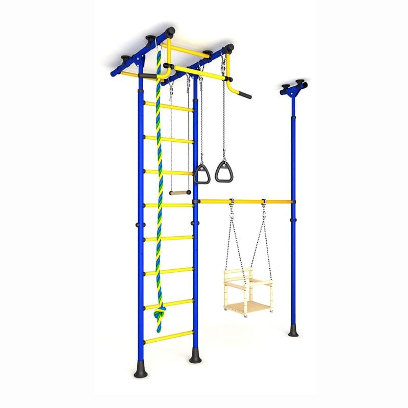 Детский спортивный комплекс Карусель 31 - сине-желтый (ROMANA)