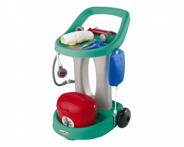 Купить Медицинская тележка Ecoiffier - 13 предметов в интернет магазине игрушек и детских товаров