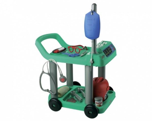 Купить Медицинская тележка Ecoiffier - 17 предметов в интернет магазине игрушек и детских товаров