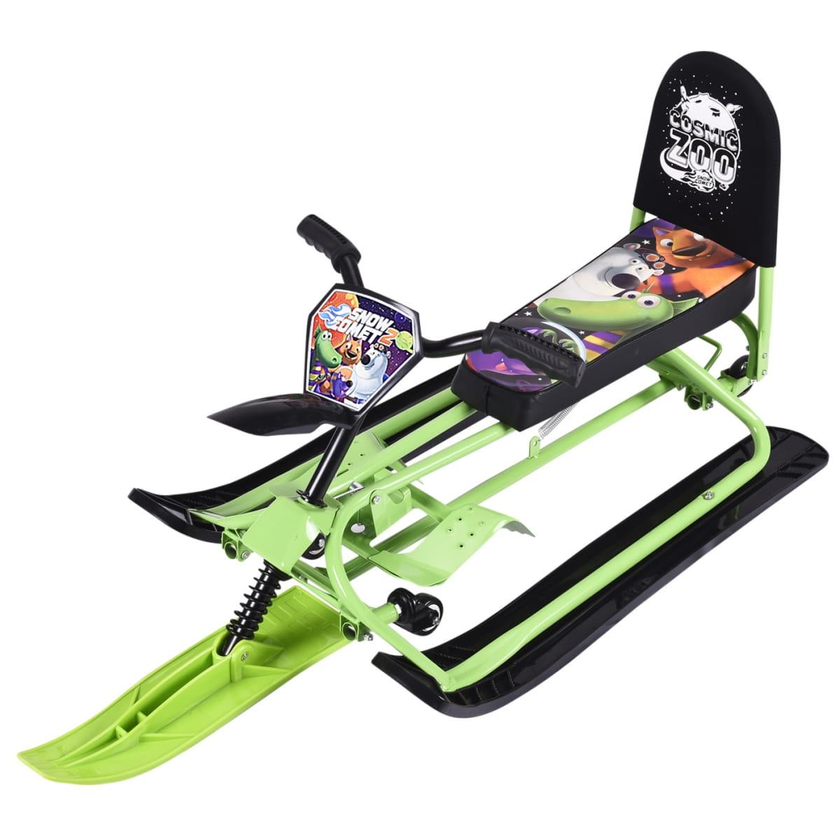 Детский снегокат-трансформер Small Rider Snow Comet 2  зеленый - Снегокаты и санки