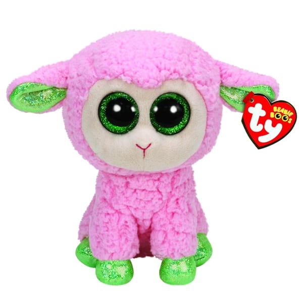 Овечка розовая TY Beanie Boos с зелеными копытцами  23 см - Игровые наборы для девочек