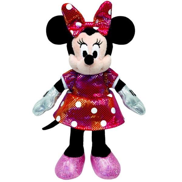 Фигурка TY 41080 Disney Sparkle Minnie в разноцветном платье - 20 см