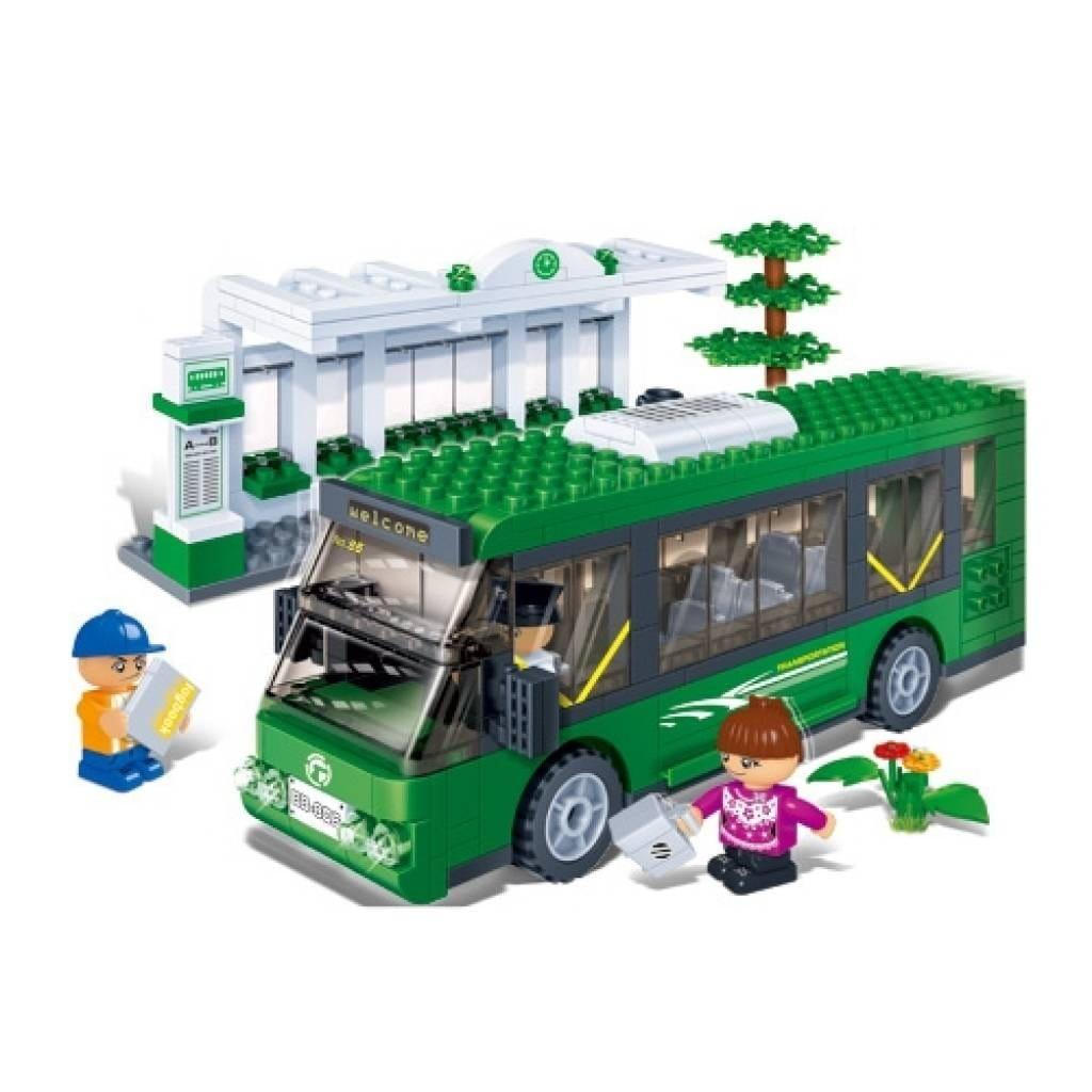 Конструктор Banbao 8768пц Пригородный автобус с остановкой - 372 детали