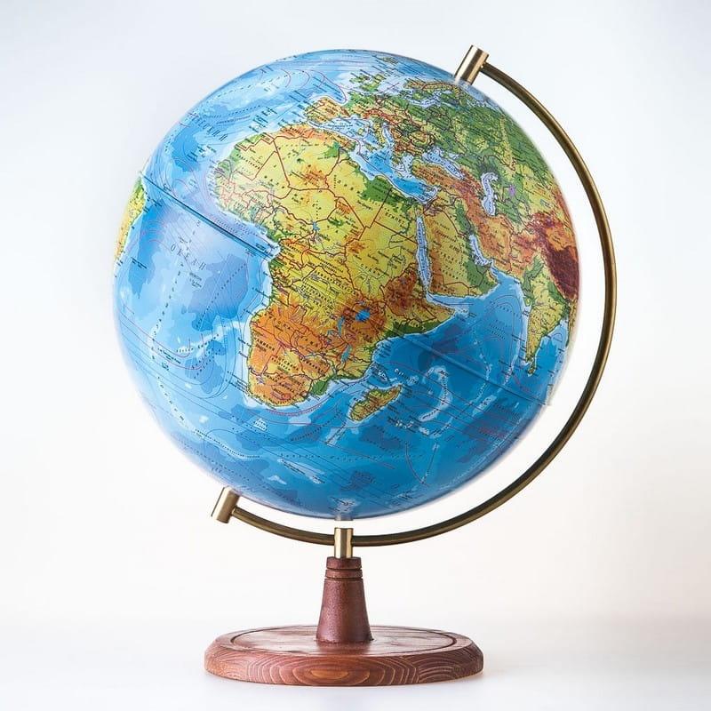 Глобус Земли Globen физический Элеганс  25 см - Методические пособия