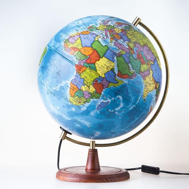 Глобус Земли Globen политический Элеганс  25 см (с подсветкой) - Методические пособия