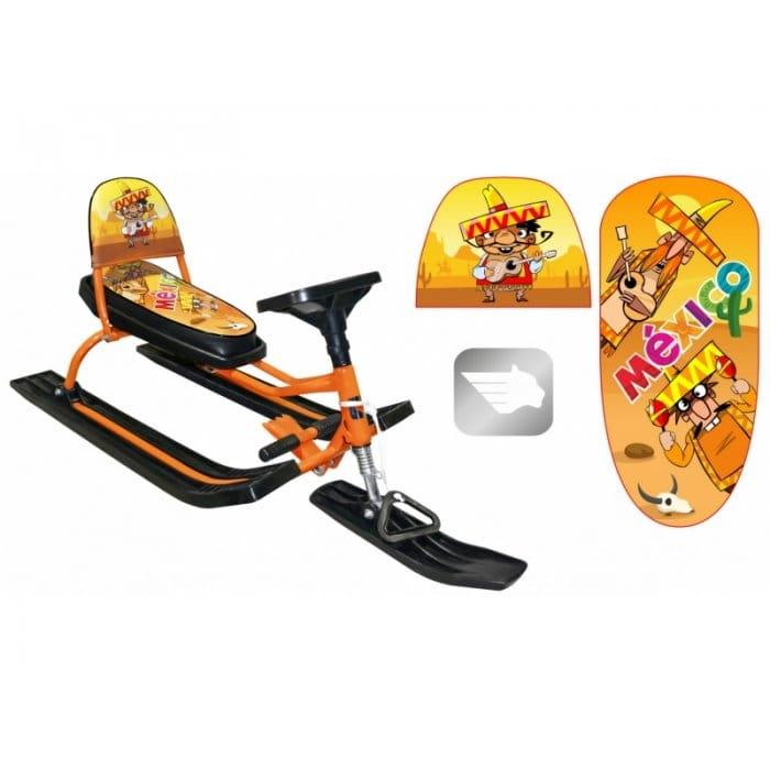 Снегокат со складной спинкой Барс 1406491 Comfort Travel 112 (мексика оранжевый)