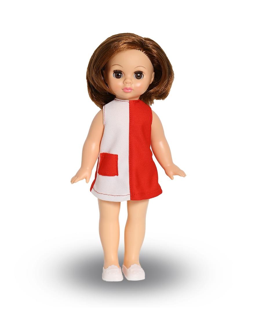 Кукла ВЕСНА Эля в красно-белом платье - 30,5 см