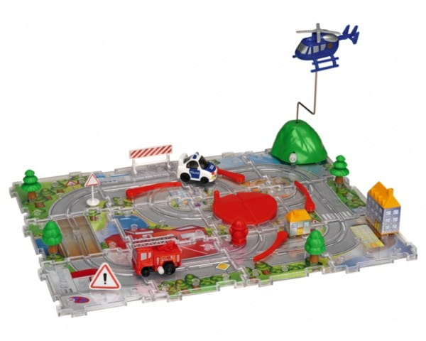 Купить Игровой набор Dickie Трасса с пазлами и вертолетом в интернет магазине игрушек и детских товаров