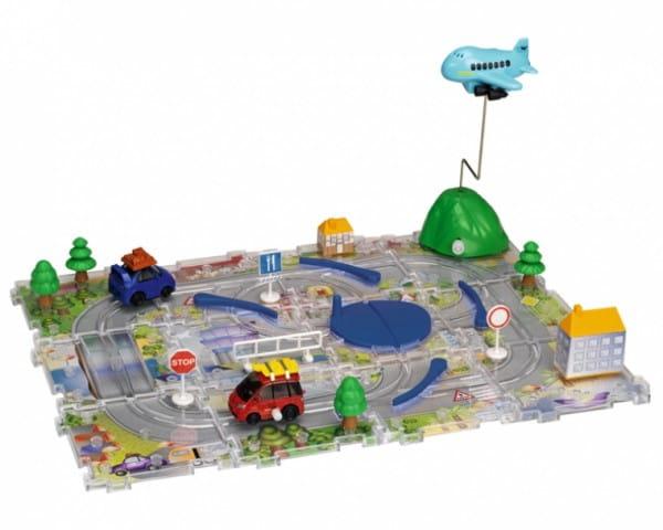 Купить Игровой набор Dickie Трасса с пазлами и самолетом в интернет магазине игрушек и детских товаров