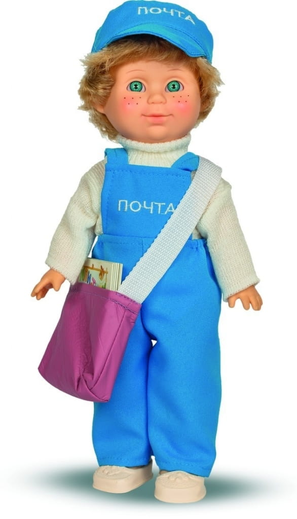 Кукла ВЕСНА Митя Почтальон - 34 см (со звуком)