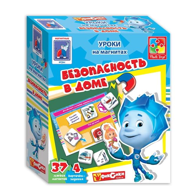 Магнитная игра Vladi Toys VT1502-15 Безопасность в доме с Фиксиками