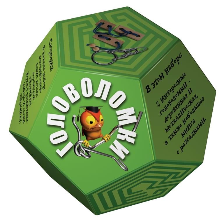 Головоломка Новый формат Додекаэдр - зеленый