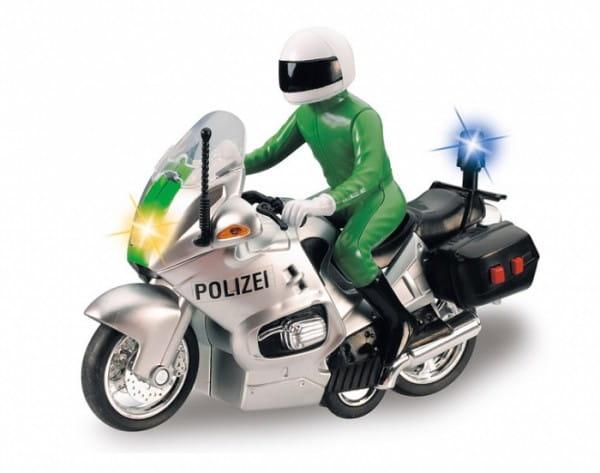 Купить Полицейский мотоцикл Dickie зеленый в интернет магазине игрушек и детских товаров