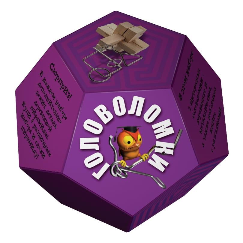 Головоломка Новый формат Додекаэдр - фиолетовый