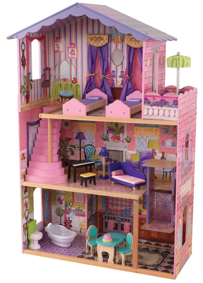 Кукольный домик с мебелью для Барби KidKraft Особняк мечты
