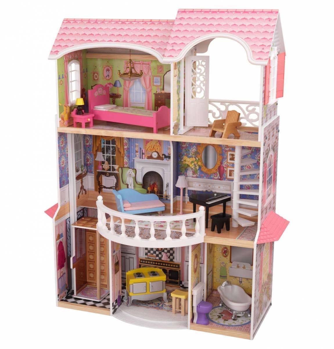 Кукольный домик с мебелью KidKraft Магнолия (в подарочной упаковке)
