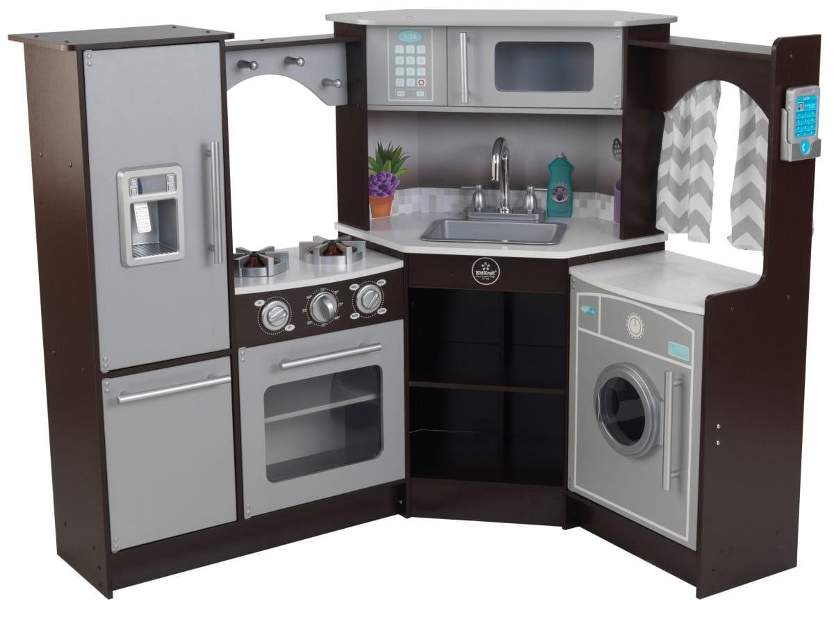 Большая интерактивная кухня KidKraft Эспрессо (угловая) - Детские кухни