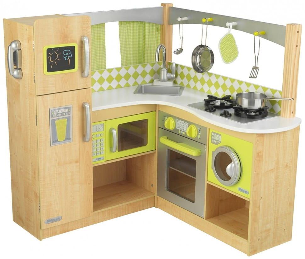 Угловая детская кухня KIDKRAFT Лайм - Детские кухни