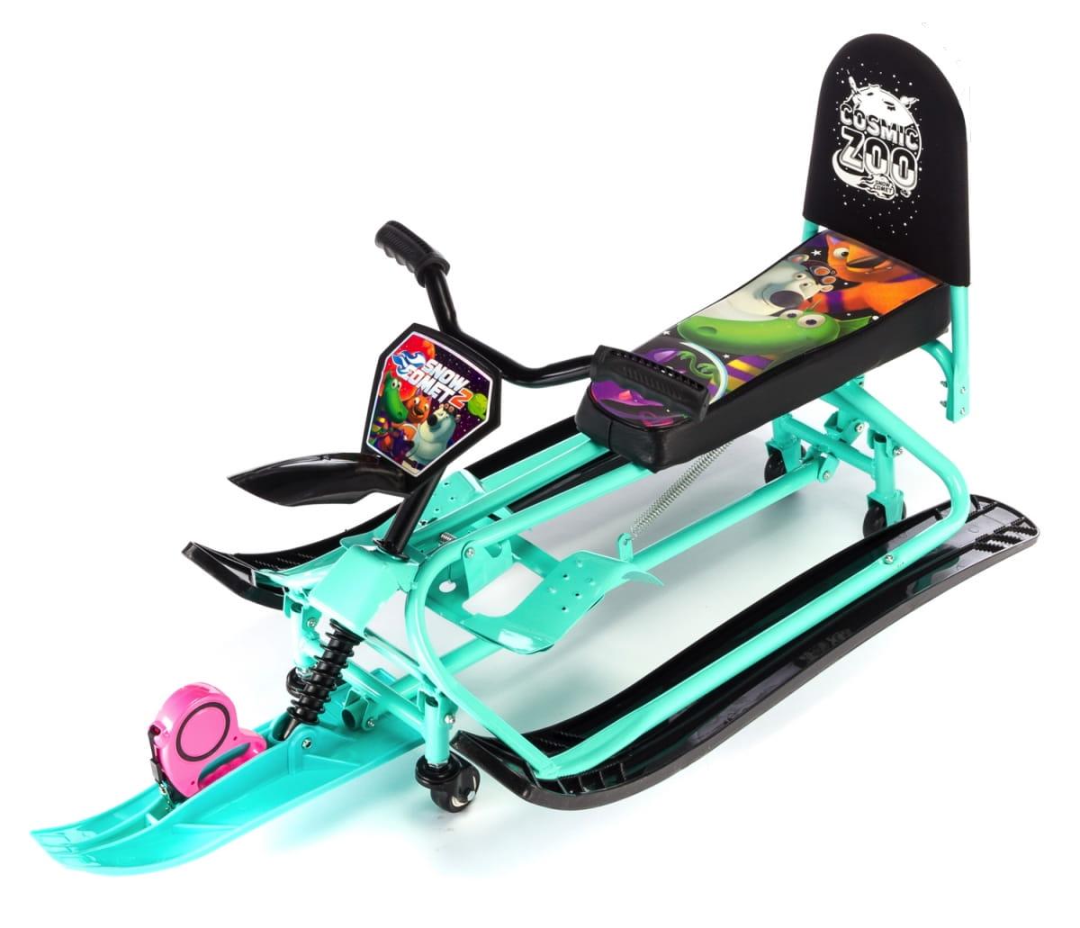 Детский снегокат-трансформер Small Rider Snow Comet 2  аква - Снегокаты и санки