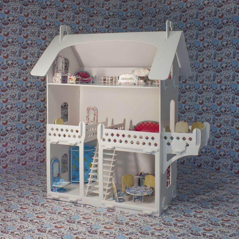 Кукольный домик-раскраска БЕЛЬЧИК - малый