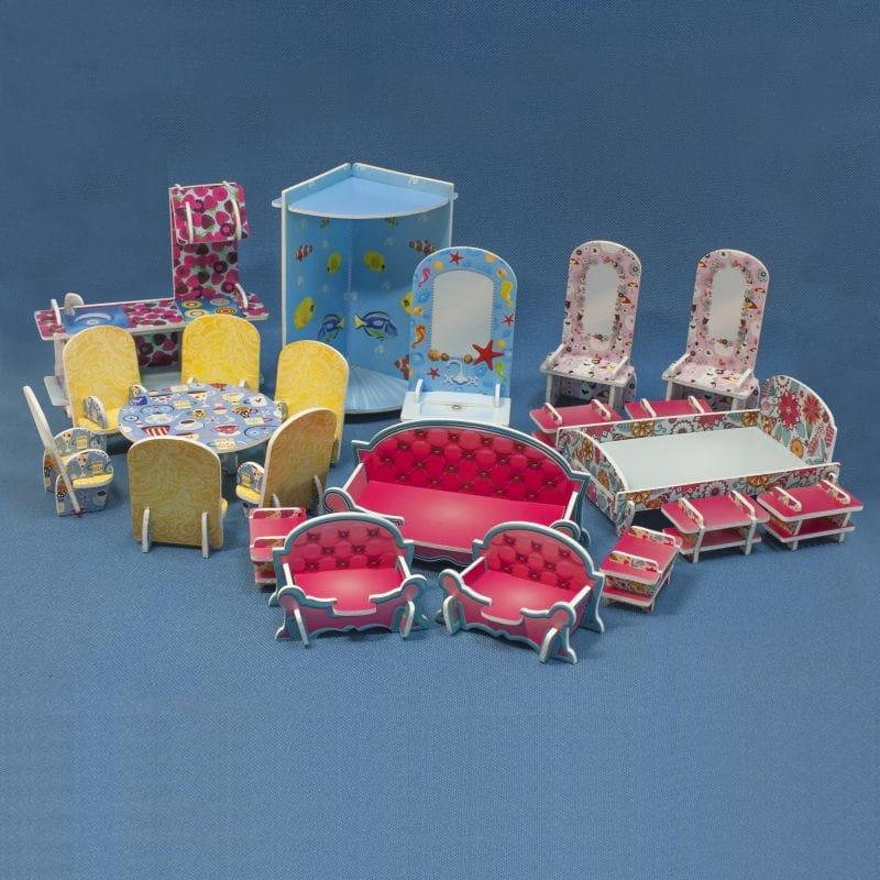 Набор мебели для домика БЕЛЬЧИК - 22 предмета