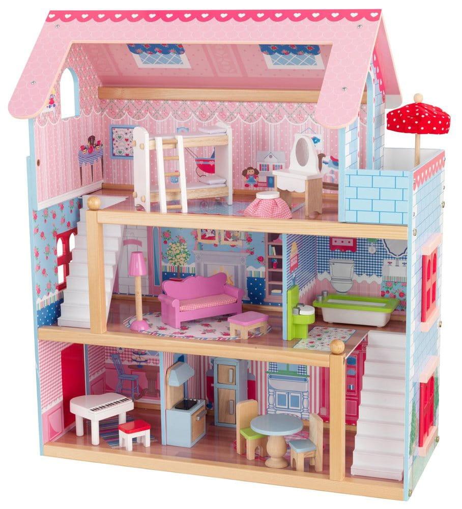 Кукольный домик с мебелью KidKraft Открытый коттедж