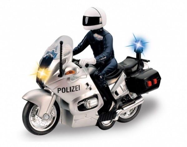Купить Полицейский мотоцикл Dickie черный в интернет магазине игрушек и детских товаров