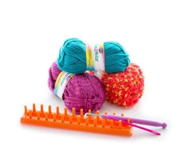 Набор для вязания Cra-z-knitz Шарф - Все для юной хозяйки