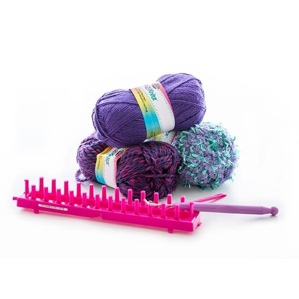 Набор для вязания Cra-z-knitz Шарф-хомут - Все для юной хозяйки