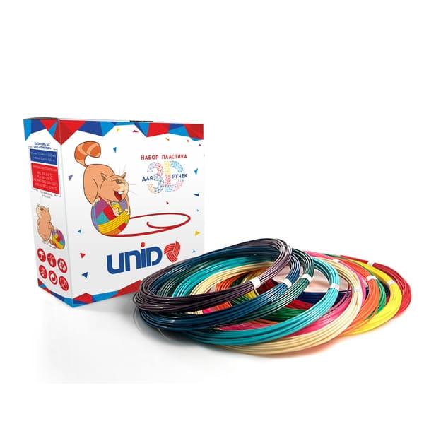 Пластик для 3D ручки SPIDER PEN UniKid PLC-490 (6 цветов)