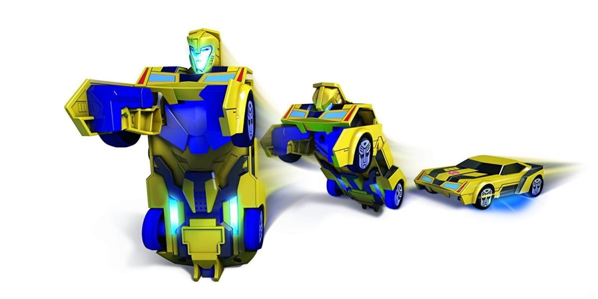 Машинка-трансформер Transformers Bumblebee со светом и звуком - 15 см (DICKIE)