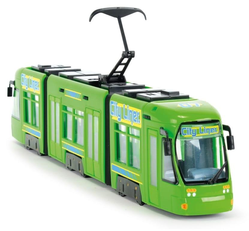 Городской трамвай DICKIE зеленый - 46 см