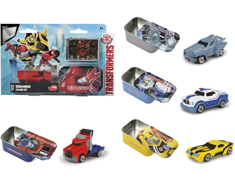 Машинка Transformers Die-Cast в металлической коробке - 7 см (DICKIE)