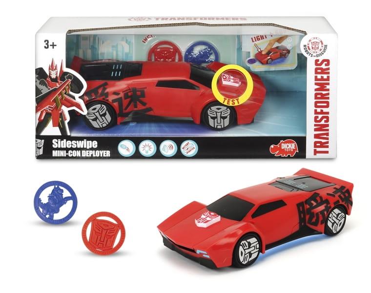 Боевая машинка Transformers Sideswipe со светом и звуком  20 см (Dickie) - Машинки и самолетики