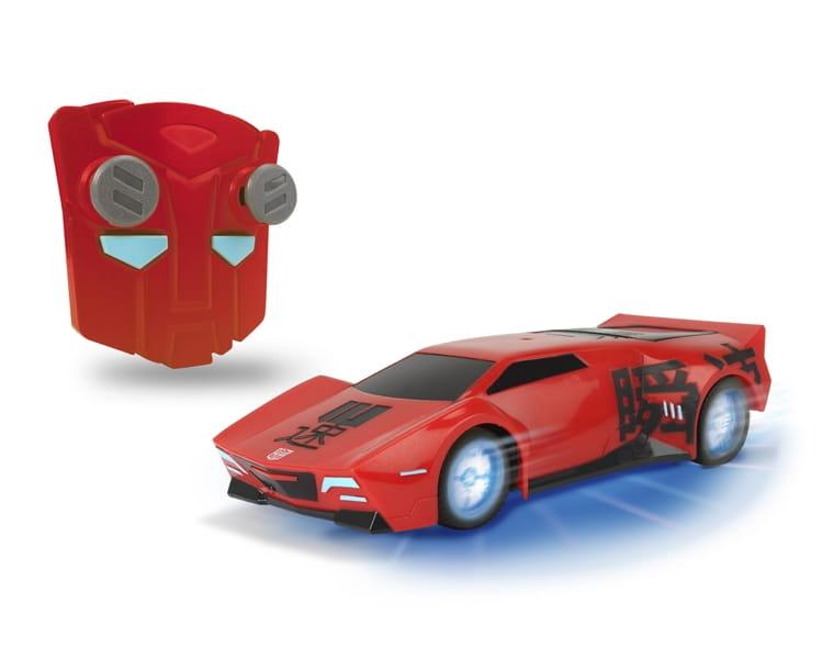 Радиоуправляемый автомобиль Transformers Sideswipe со светом и звуком 1:24  18 см (Dickie) - Радиоуправляемые игрушки