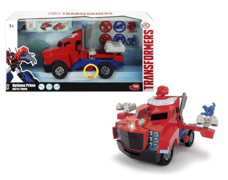 Боевой трейлер Transformers Optimus Prime со светом и звуком  23 см (Dickie) - Машинки и самолетики