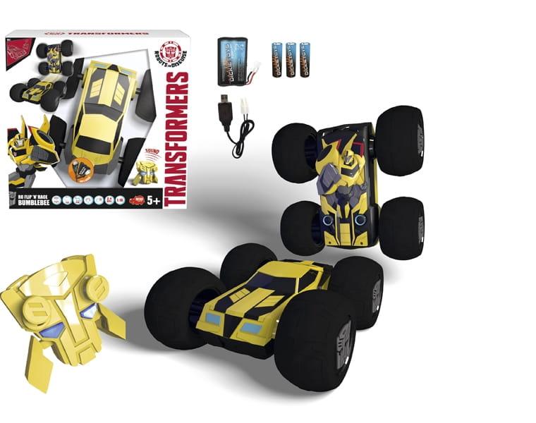 Радиоуправляемая машинка-перевертыш Transformers Bumblebee 1:16  25 см (Dickie) - Радиоуправляемые игрушки