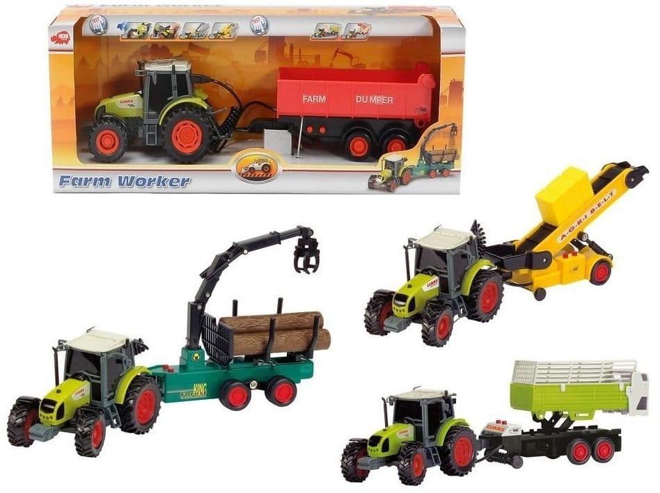 Трактор DICKIE с прицепом - 35 см (со светом и звуком)