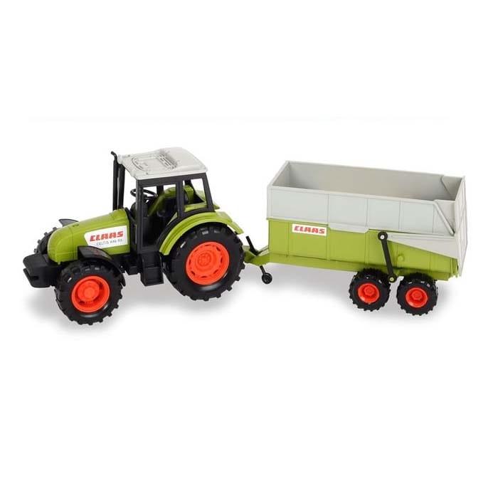 Трактор DICKIE с прицепом - 36 см
