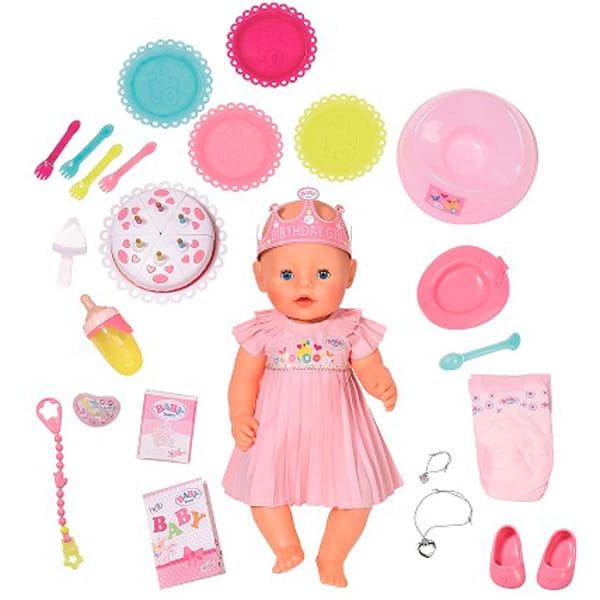 Интерактивная кукла-пупс BABY BORN в нарядном платье с тортом - 43 см (Zapf Creation)