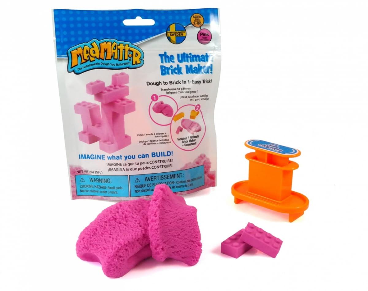 Масса для лепки Mad Mattr The Ultimate Brick Maker - розовая