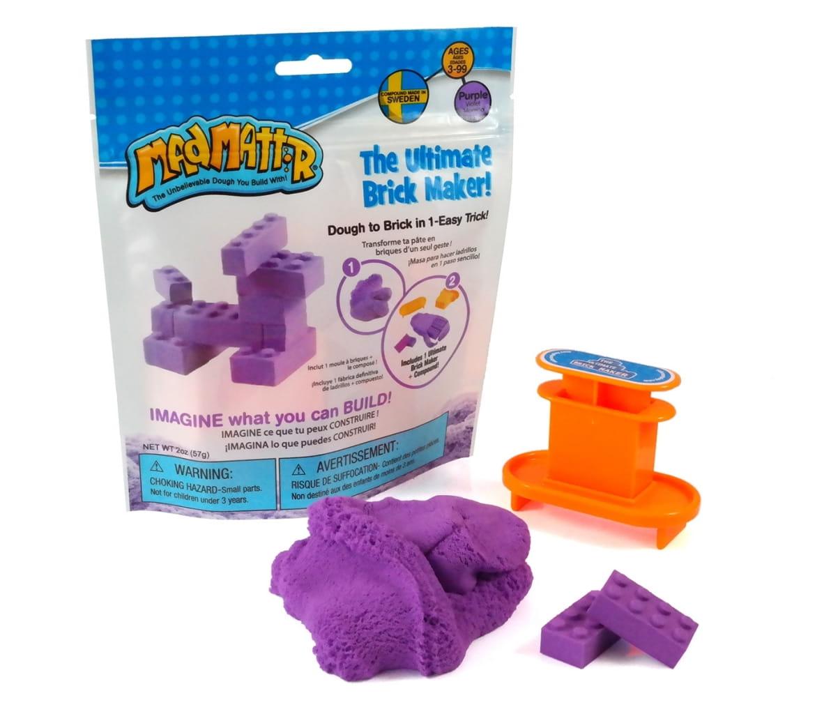 Масса для лепки Mad Mattr The Ultimate Brick Maker - фиолетовая
