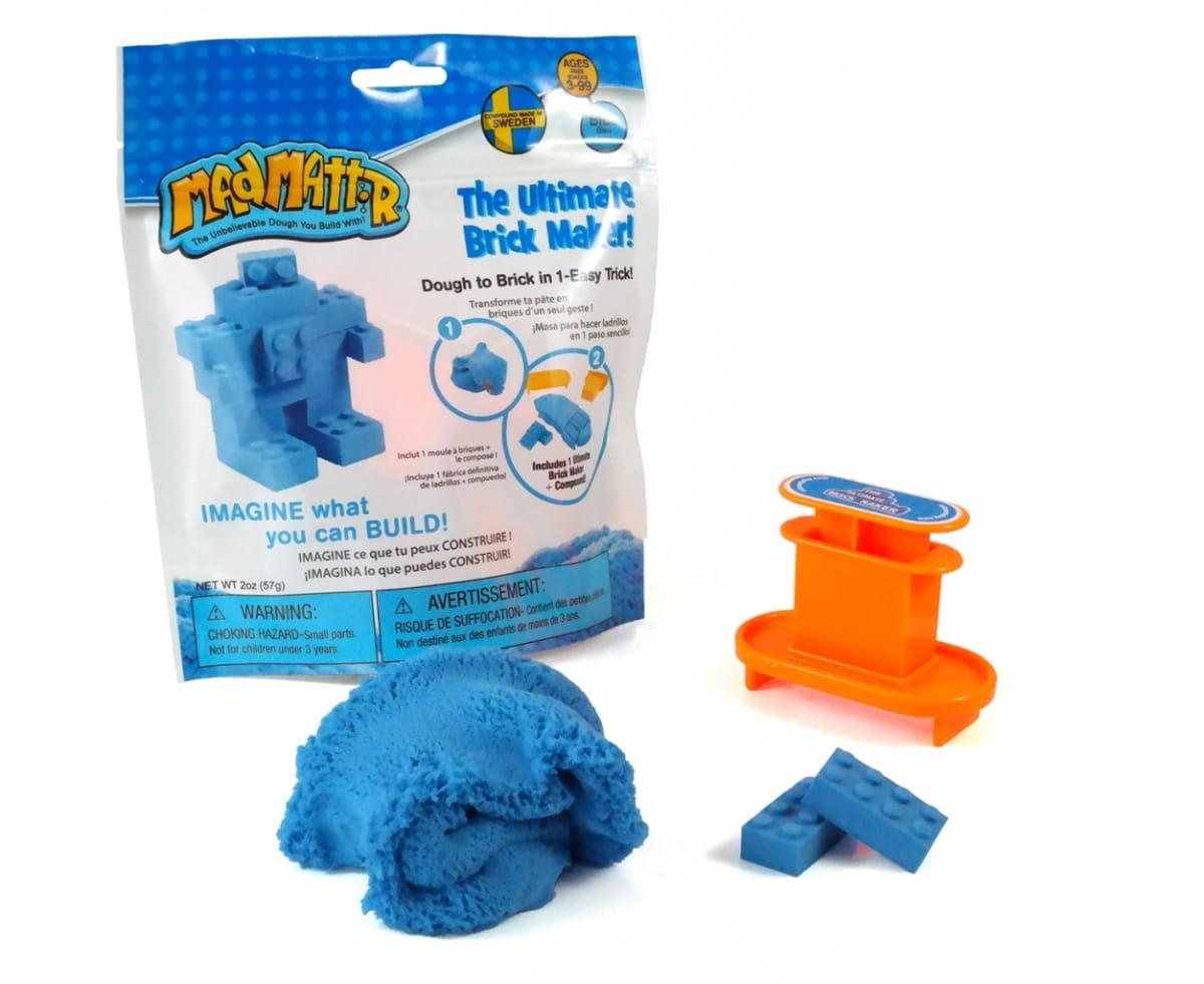 Масса для лепки Mad Mattr The Ultimate Brick Maker - голубая