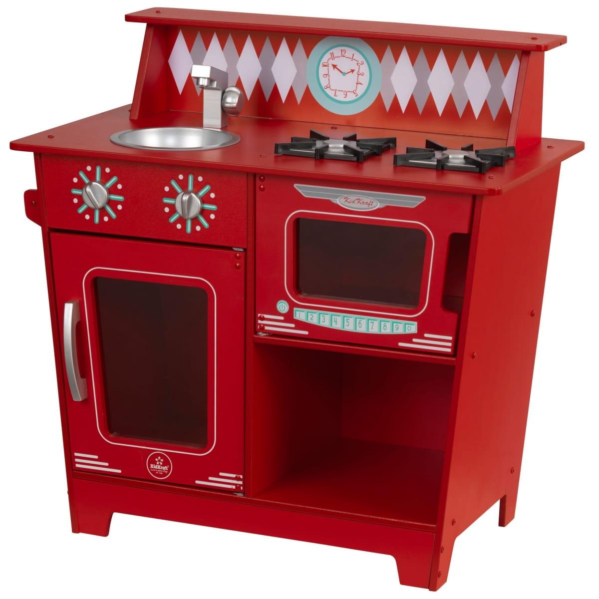 Детская кухня KIDKRAFT Red Classic Красная классическая