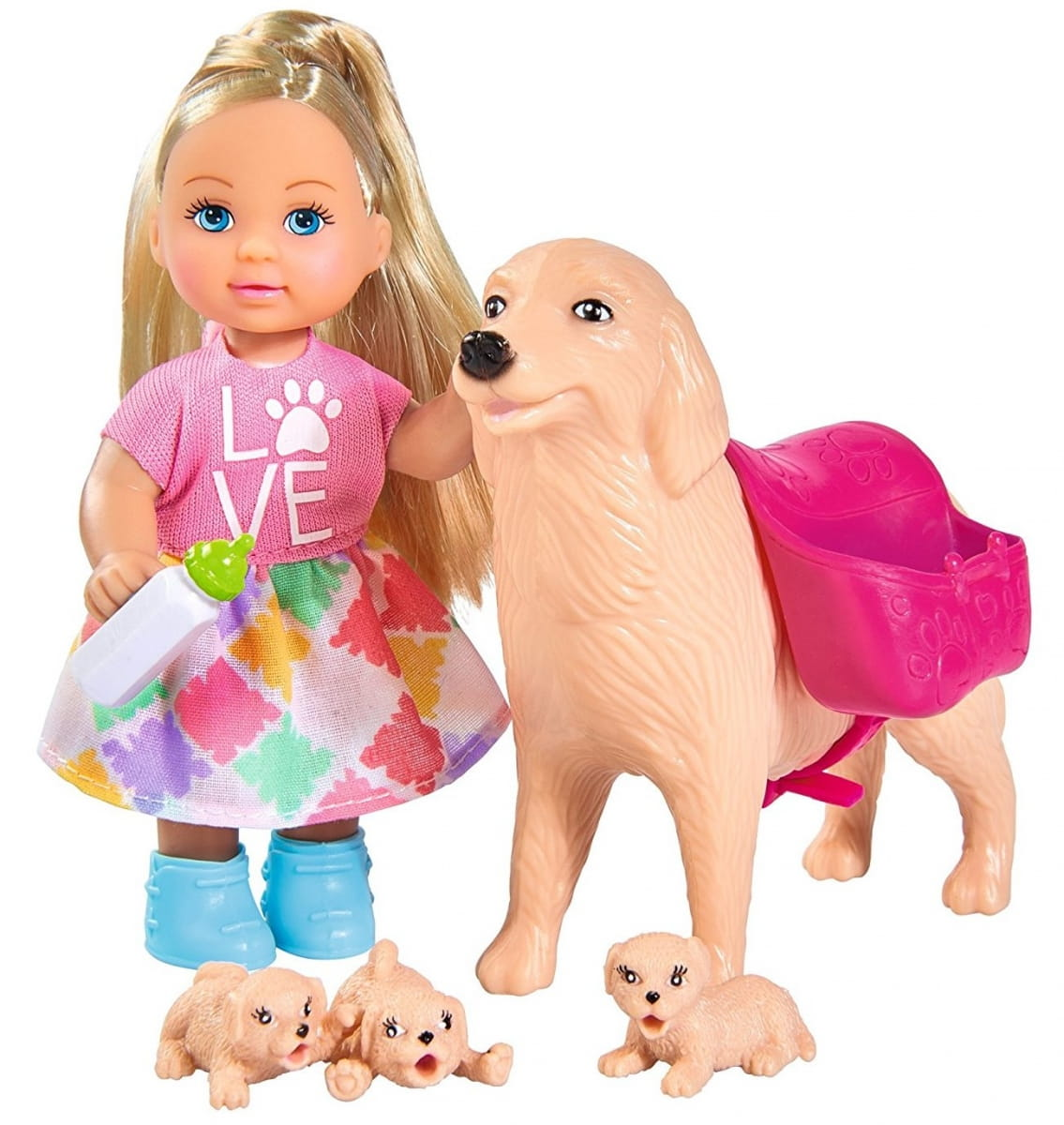 Кукла Evi Еви с собачкой и щенками (SIMBA)